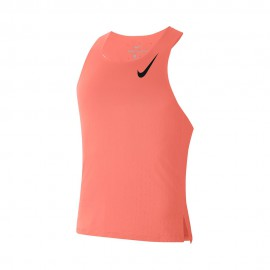 Nike Canotta Running Aroswft Bright Mango Nero Uomo