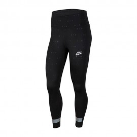 Nike Leggings Running 7/8 Air Nero Argento Donna