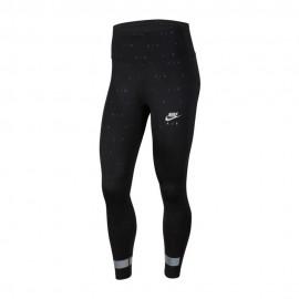 Nike Leggings Running 7/8 Air Nero Argento Donna