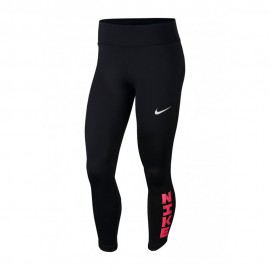 Nike Leggings Running 7/8 Fast Icnclsh Nero Bianco Donna