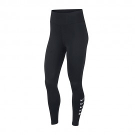 Nike Leggings Running 7/8 Swoosh Nero Argento Donna