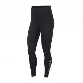 Nike Leggings Running 7/8 Swoosh Nero Argento Donna
