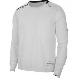 Nike Maglia Running Division Mid Woven Bianco Nero Uomo