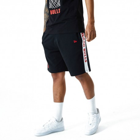 New Era Pantaloncini Basket NBA Chigaco Nero Bianco Uomo