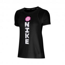 Nike Maglia Running Mezza Manica Icnclsh Gx Nero Donna