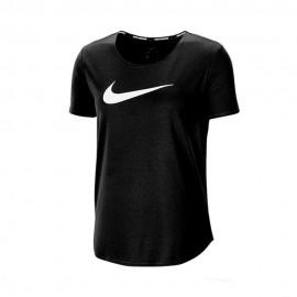 Nike Maglia Running Mezza Manica Swoosh Nero Argento Donna