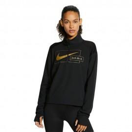 Nike Maglia Running Midlayer Icnclsh Nero Oro Donna