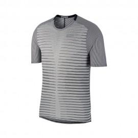 Nike Maglia Running Techknit Ff Nero Bianco Uomo