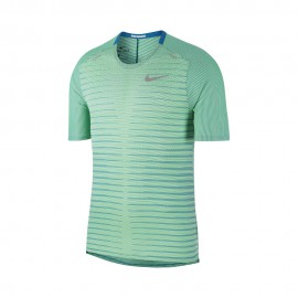 Nike Maglia Running Techknit Ff Verde Argento Uomo