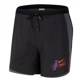 Nike Pantaloncini Running 2in1 Flx Stride Hyb Nero Uomo