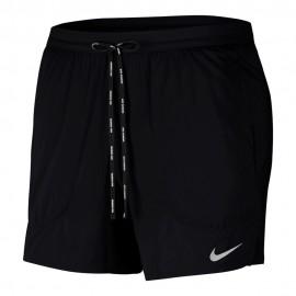 Nike Pantaloncini Running 5in Flx Nero Argento Uomo