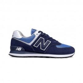 New Balance Sneakers 574 Mesh Suede Royal Blu Uomo