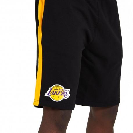 New Era Pantaloncini Basket NBA Lakers Nero Giallo Uomo