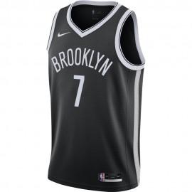Nike Canotta Basket NBA Brooklyn Duran Nero Bianco Uomo