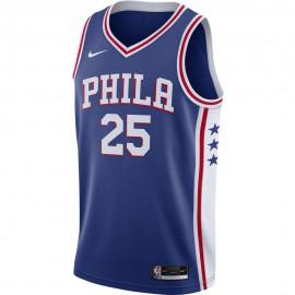 Nike Canotta Basket NBA Philadelphia Simmons Blu Bianco Uomo