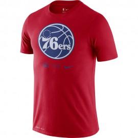 Nike Maglia Basket NBA Philadelphia Logo Rosso Blu Uomo