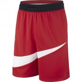 Nike Pantaloncini Basket Dry-Fit Hbr Rosso Bianco Uomo