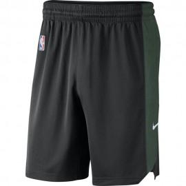 Nike Pantaloncini Basket NBA Milwaukee Practice 18 Verde Uomo