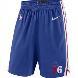 Nike Pantaloncini Basket NBA Philadelphia Road Blu Uomo