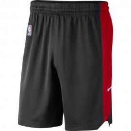 Nike Pantaloncini Basket NBA Toronto 18 Nero Rosso Uomo