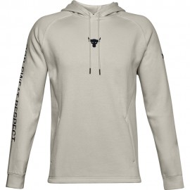 Under Armour Felpa Palestra Project Rock Hoodie Bianco Uomo