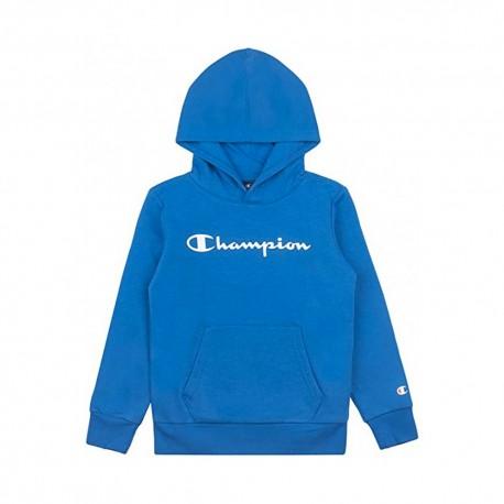 Champion Felpa Palestra Con Cappuccio Classic Blu Bambino