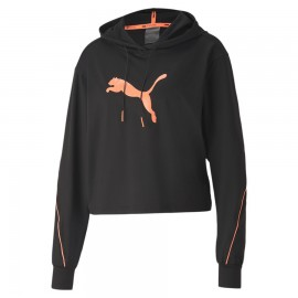 Puma Felpa Palestra Train C Capp Nero Donna