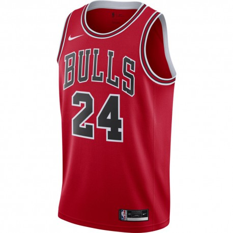 Nike Canotta Basket NBA Chicago Markkanen Rosso Bianco Uomo