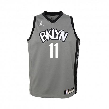 Nike Canotta Basket NBA Jordan Brlyn Kyrie Grigio Bambino