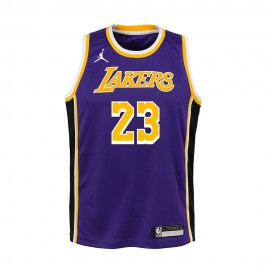 Nike Canotta Basket NBA Jordan Lakers Lebron Viola Bambino