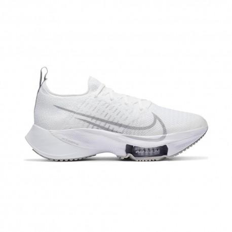 Nike Scarpe Running Air Zoom Tempo Next% Bianco Grigio Donna