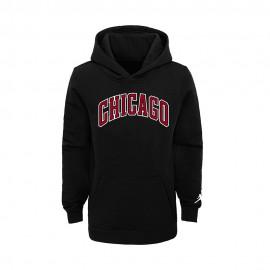 Nike Felpa NBA Jordan State Chicago Nero Rosso Bambino