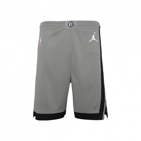 Nike Pantaloncini Basket NBA Grigio Bianco Bambino