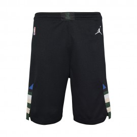 Nike Pantaloncini Basket NBA State Bucks Nero Bianco Bambino