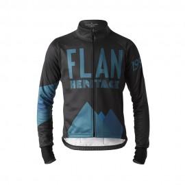 Flandres Love Giacca Ciclismo Invernale Heritage Nero Uomo