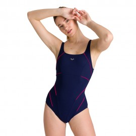 Arena Costume Intero Piscina Supp Jewel Blu Rosa Donna