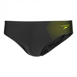 Speedo Costume Slip Tech Placement 7cm Nero Giallo Uomo
