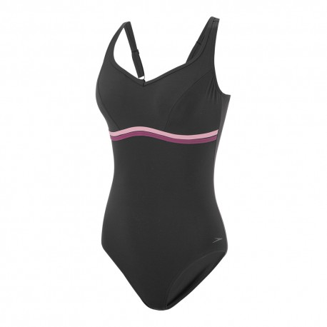 Speedo Costume Intero Piscina Supp Contourluxe Nero Donna