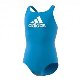 Adidas Costume Intero Piscina Bos Azzurro Bianco Bambina