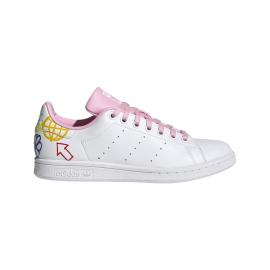ADIDAS originals sneakers stan smith bianco rosa donna