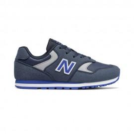 New Balance Sneakers 393 Laccio Blu Bianco Bambino