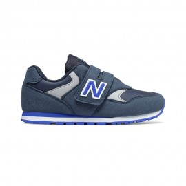 New Balance Sneakers 393 Velcro Blu Bianco Bambino