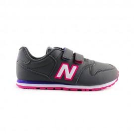 New Balance Sneakers 500 Velcro Grigio Fucsia Bambino