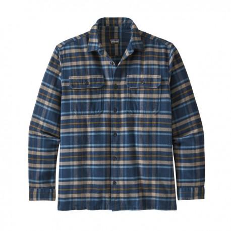 Patagonia Camicia Montagna Fjord Flannel New Blu Uomo