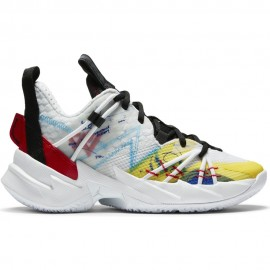 Nike Sneakers Jordan Why Not Zer0.3 Gs Bianco Rosso Bambino
