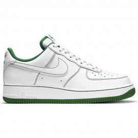 Nike Sneakers Air Force 1 07 Bianco Verde Uomo