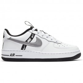 Nike Sneakers Air Force 1 Low Lv8 Gs Bianco Argento Bambino