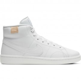 Nike Sneakers Court Blu Mid Bianco Donna