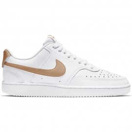 Nike Sneakers Court Vision Low Bianco Oro Donna