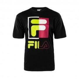 Fila T-Shirt Logo Lime Nero Uomo